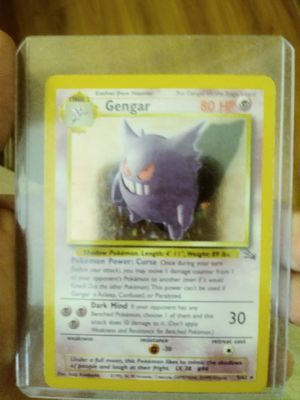 Gengar Fossil Set Pokemon Card Holographic 5/62 for Sale in Westminster, CO