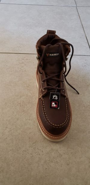 New Hawx work boots size 7.5 for Sale in Perris, CA