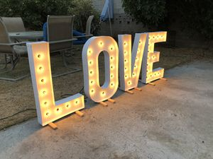 Marquee letters — letras de marquesina for Sale in Downey, CA