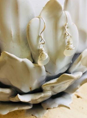 Small Moonstone Earrings Sterling Silver! for Sale in VA, US