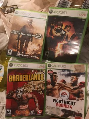 XBOX 360 live games COD, BORDERLANDS, resident evil for Sale in San Diego, CA
