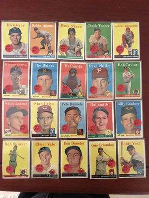 * * (172) 1958 TOPPS BASEBALL CARDS * HALL of FAMERS * EXCELLENT CONDITION * for Sale in Lafayette, CA