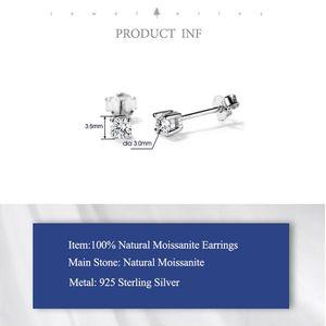 925 Sterling Silver Diamonds Moissanite Studs for Sale in Pawtucket, RI