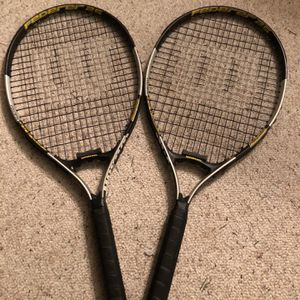 2 New Adult Federer 25 Inch Wilson Tennis Rackets Volcanic Frame Technology for Sale in Mount Laurel Township, NJ