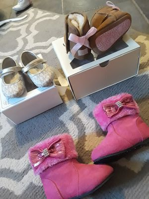 Baby girl uggs and pink boots for Sale in Tucson, AZ