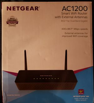 Netgear AC1200 6200 Smart WiFi Router with Antennas for Sale in Middle River, MD