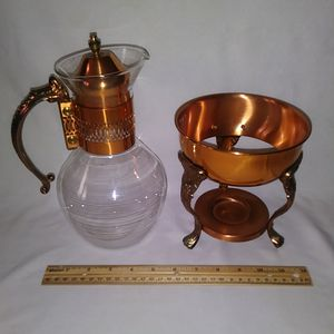 Vintage Glass Coffee Carafe Pot with Warmer Stand for Sale in Chicago, IL