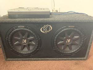 Kicker subs and amp for Sale in Long Beach, CA