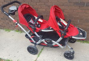 Kolcraft Contours Reversible Double Stroller with Car Seat Adapter for Sale in Farmington Hills, MI
