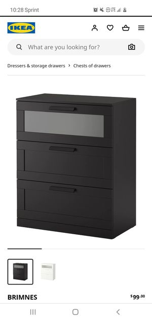 ikea brimmes black dresser for Sale in Glen Burnie, MD
