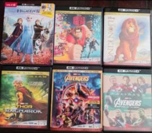 4K MOVIES ($8 EACH OR 2 FOR $15) for Sale in El Cajon, CA