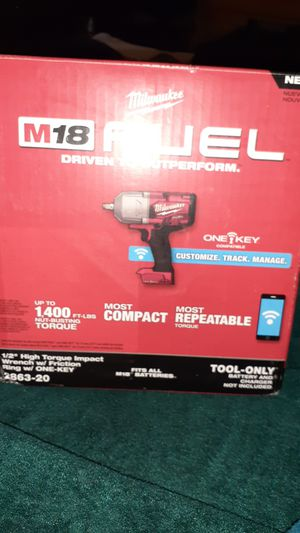 Milwaukee Impact wrench and 5.0battery for Sale in San Leandro, CA