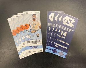 (4) UNC vs NC State Basketball Tickets w/Discounted Concessions Vouchers for Sale in Asheboro, NC