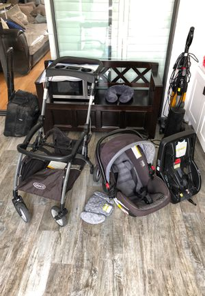 Graco click connect car seat/ base / stroller for Sale in Los Angeles, CA