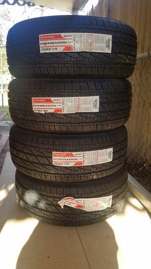 Set of 4 Firestone Destination LE 275/55/19 for Sale in Manassas Park, VA