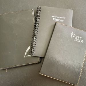 2 Leather cover &1 hard cover notebook new for Sale in Escondido, CA