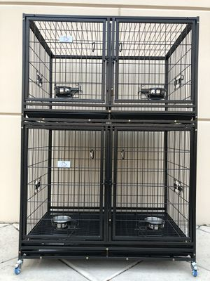 New HD dog kennel cage stack up lower,upper both in factory sealed📦 See dimensions in second and third picture🇺🇸 for Sale in Las Vegas, NV