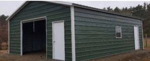 New 24' x 31' x 9' Steel Garage Building for Sale in Bridgewater, MA