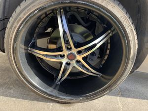 "22"" challenger tires/rims for Sale in Houston, TX"