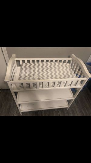 Changing table for baby w mattress for Sale in Dallas, TX
