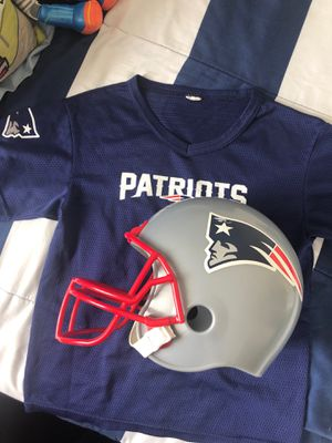 Kids Patriots Helmet and Jersey for Sale in Los Angeles, CA