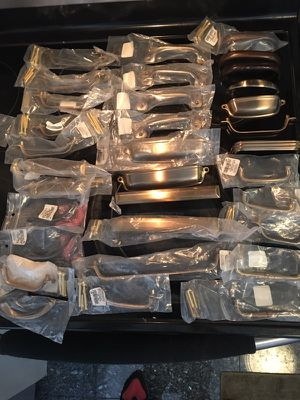 Pieces of cabinet pulls, 40-50 for Sale in Chicago, IL