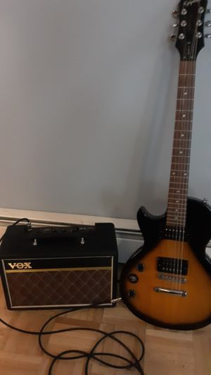 Epiphone left handed guitar with vox AC10 Pathfinder amp for Sale in Danville, PA