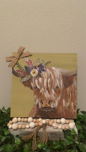 Farmhouse Bull canvas wall art decor for Sale in Covington, LA