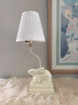 Art Deco Vintage White Rabbit Lamp Decorative Mid Century Modern Cute Bunny Table Lamp for Sale in Los Angeles, CA