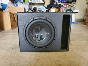 Memphis Audio 10 in speaker in pro box for Sale in San Antonio, TX
