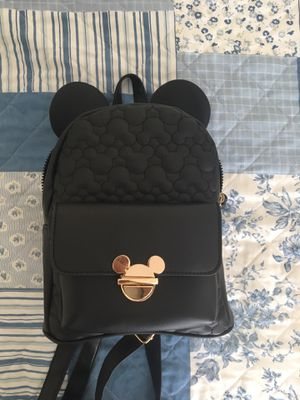Mickey Mouse, black and gold, small backpack. for Sale in Framingham, MA