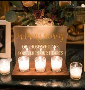 Wedding/event Memorial Sign for Sale in Sturbridge, MA