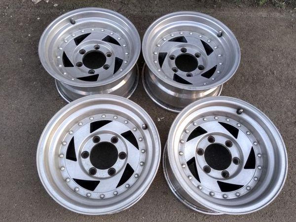 15x8 de aluminio American Racing 6 oyos toyotas chevys