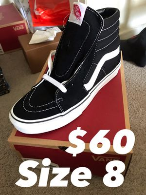 Vans Sk8 Hi Shoes size 8 NEW for Sale in Los Angeles, CA