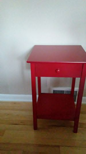 Red table, with drawer & shelf for Sale in Penn Hills, PA