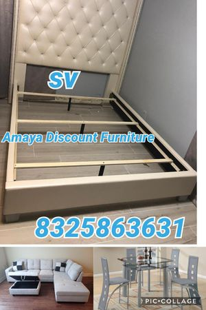 Special bundle deal brand new furniture queen with mattress set pillow top for Sale in Houston, TX