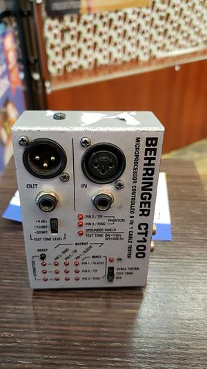 Behringer 6-in-1 Cable tester for Sale in Chicago, IL