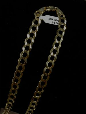 "Solid Cuban Chain Concave 10K & 50g & 25"" & 9.42mm for Sale in Poinciana, FL"