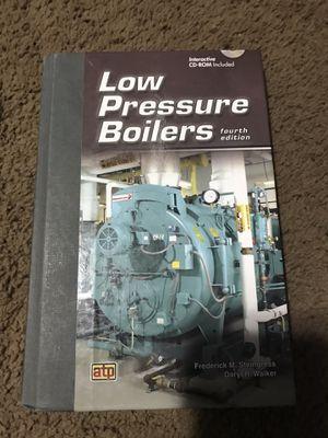 Low pressure boiler book 4th edition for Sale in Seattle, WA
