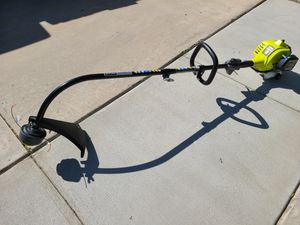 RYOBI 25cc 2-Cycle Attachment Capable Full Crank Curved Shaft Gas String Trimmer for Sale in Murrieta, CA