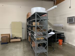 Metal shelving all parts included for Sale in Bellevue, WA