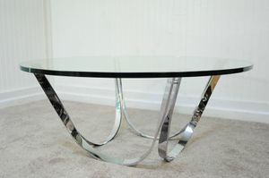 1970 Mid Century Roger Sprunger Chrome Coffee Table for Sale in Santa Monica, CA