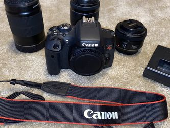 Canon 6Ti Bundle 18-55mm / 55-250mm / 50mm for Sale in Portland,  OR