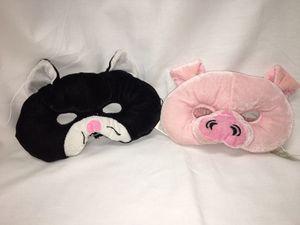2 plush face masks - cat & pig for Sale in El Mirage, AZ