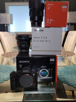 Sony A7ii Camera With Lenses for Sale in Houston,  TX