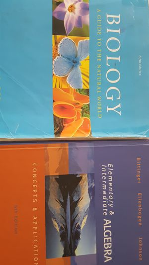 Biology 111 and Math 89 book for Sale in Modesto, CA