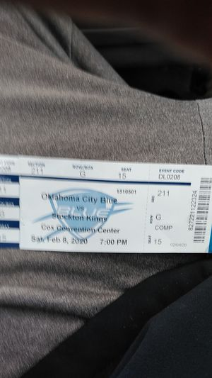 It's a ticket to the Oklahoma City Blue vs Stockton Kings at the Cox convention center it good only for today for Sale in Oklahoma City, OK