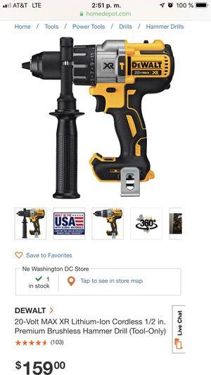 Dewalt hammer drill new no offert for Sale in Bethesda, MD
