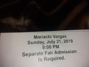 State Fair Addmission / Concert Tickets for Sale in Stockton, CA