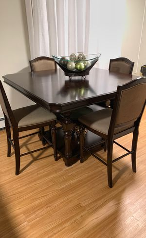 Dark Brown Dining Table - Counter Height for Sale in Yonkers, NY